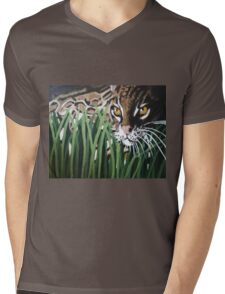 Ocelot  Mens V-Neck T-Shirt