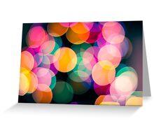 Christmas Bokeh - 1 Greeting Card
