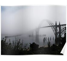 Fog Rolling In...Newport , Oregon Poster