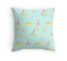 abstract retro Design  Throw Pillow