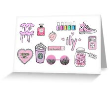 pink tumblr transparent Greeting Card