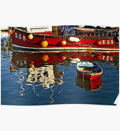 Harbour Reflections ~ Lyme Regis Poster
