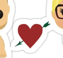 Oliver and Felicity  Sticker