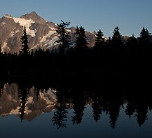 Which Way is Up (Mt. Shuksan at dusk - North Cascades National Park) by Barb White