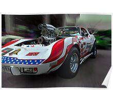 "1975 Chevrolet Corvette, ""Spirit of 76"" Dragster Poster"