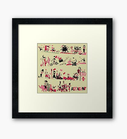 A is for Accident Framed Print