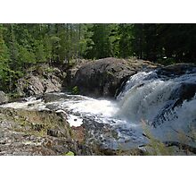 Falls in the UP of Michigan Photographic Print