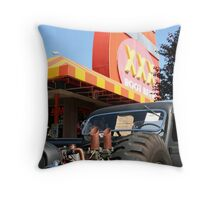 Six Pack Rat Rod Loves RootBeer Throw Pillow