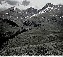 Black Rockie Mountains by Linda Miller Gesualdo