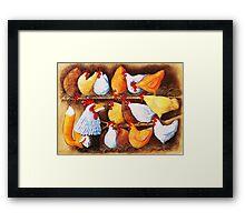 Fox in the Hen House Framed Print