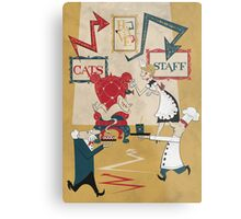 Cats Have Staff Metal Print