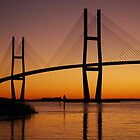 Sidney Lanier Bridge in Brunswick, GA at sunset by oldgoatsphoto