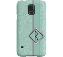 1920s Blue Deco Swing with Monogram letter R Samsung Galaxy Case/Skin