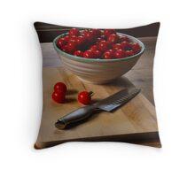 Sweet Cherry Tomatos Throw Pillow