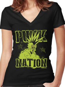 Punk Nation Women's Fitted V-Neck T-Shirt