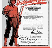 Make Your Own Declaration Of War -- WW2 by warishellstore