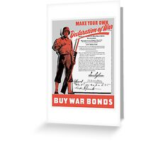 Make Your Own Declaration Of War -- WW2 Greeting Card