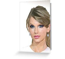 Taylor Swift - LowPoly Portrait Greeting Card