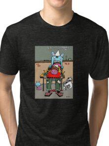 EDUCATION IS DEATH Tri-blend T-Shirt