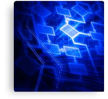 Abstract software algorithm flowchart art photo print Canvas Print