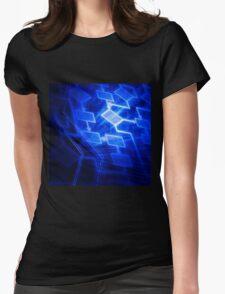 Abstract software algorithm flowchart art photo print Womens Fitted T-Shirt
