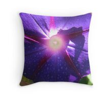 Purple Broadcaster Throw Pillow