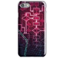 Abstract Algorithm Flowchart Background art photo print iPhone Case/Skin