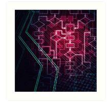 Abstract Algorithm Flowchart Background art photo print Art Print