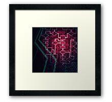 Abstract Algorithm Flowchart Background art photo print Framed Print