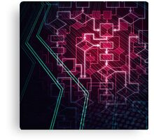 Abstract Algorithm Flowchart Background art photo print Canvas Print