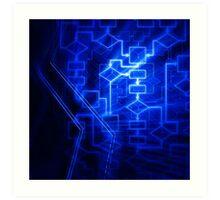 Flowchart algorithm diagram background art photo print Art Print