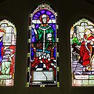stained glass window by Karen E Camilleri