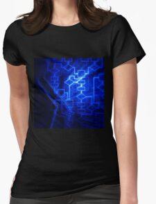 Flowchart algorithm diagram background art photo print Womens Fitted T-Shirt