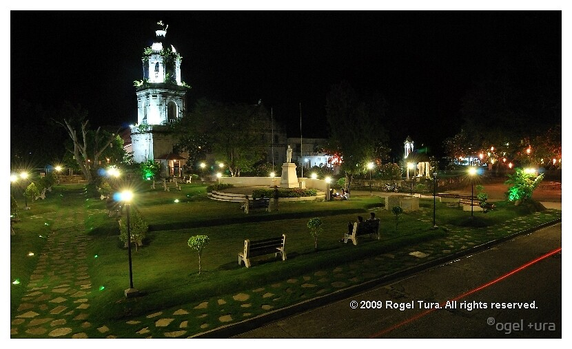 Argao Plaza at Night Postcard Photo by ®ogel +ura