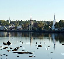 Mahone Bay Churches by Jann Ashworth