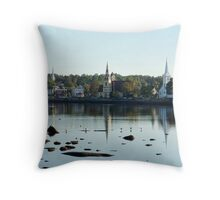 Mahone Bay Churches Throw Pillow