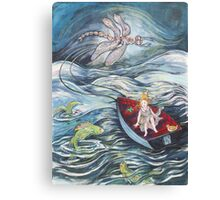 Girl in a Boat 2 Canvas Print