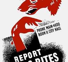Report Dog Bites -- WPA by warishellstore
