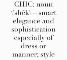 Definition of Chic (Serif) by Vrai Chic