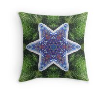 Star in the Grass Throw Pillow