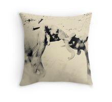 Elephant Fight Throw Pillow