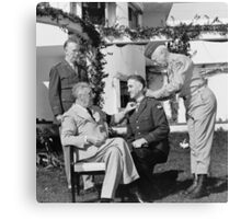 FDR Presenting Medal Of Honor To William Wilbur Canvas Print