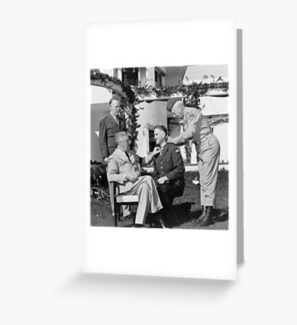 FDR Presenting Medal Of Honor To William Wilbur Greeting Card