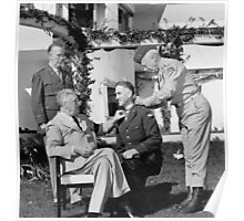 FDR Presenting Medal Of Honor To William Wilbur Poster