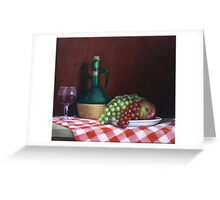 Still Life With Apple Greeting Card