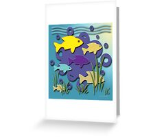 On The Way To School Greeting Card
