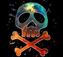 Space Pirate, Skull, Crossbones, Captain, Bone, Anime, Comic by boom-art