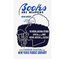 Books Are Weapons -- WPA Photographic Print
