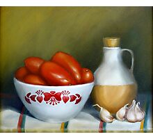 Romas, Garlic And Oil Photographic Print