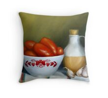 Romas, Garlic And Oil Throw Pillow